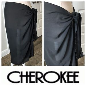 Cherokee Swimsuit Cover-up Tie-up Skirt